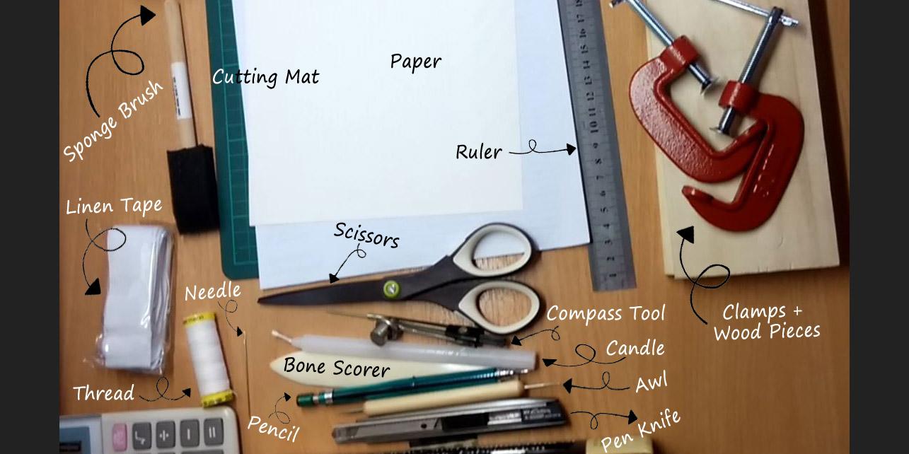 Book Cover Binding Material : Bookbinding materials and tools workshop sg