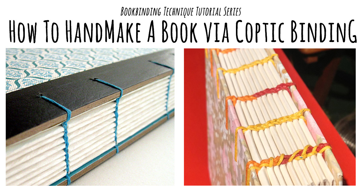 How To Make A Book Binding : Coptic binding tutorial bookbinding workshop singapore